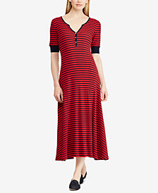 Lauren Ralph Lauren Cotton Fit & Flare Dress