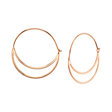 Rose Gold Double Hoop Earring