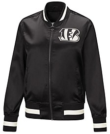 Women's Cincinnati Bengals Touch Satin Bomber Jacket