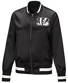 Touch by Alyssa Milano Women's Cincinnati Bengals Touch Satin Bomber Jacket