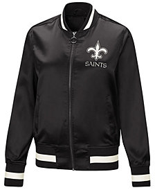Touch by Alyssa Milano Women's New Orleans Saints Touch Satin Bomber Jacket