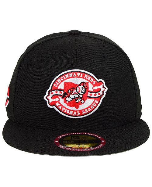 finest selection 76391 5f236 ... New Era Cincinnati Reds Ultimate Patch Collection Front 59FIFTY FITTED  Cap ...