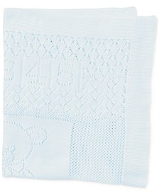 Ralph Lauren Baby Boys Bear Pointelle Cotton Blanket