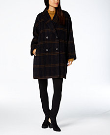 Eileen Fisher Double-Breasted Coat & Sweater