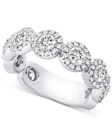 Diamond Halo Band (2 ct. t.w.) in 14k White Gold