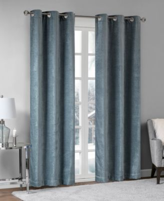 "Madison Park Luxe 42"" x 95"" Chenille Grommets Window Curtain Pair"