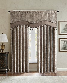 Aubrey Paisley Faux Silk Curtain & Valance Collection