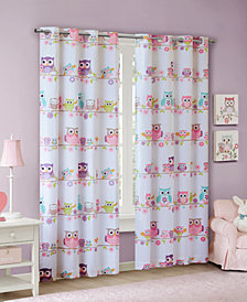 Mi Zone Kids Wise Wendy Owl Printed Blackout Grommets Window Panels