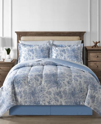 Floral Toile 6-Pc. Twin Reversible Comforter Set