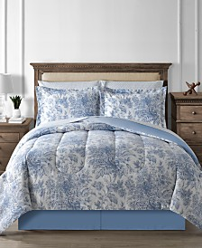 CLOSEOUT! Fairfield Square Collection Floral Toile 8-Pc. Reversible Comforter Set