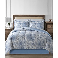 Deals on Fairfield Square Collection Floral Toile 8-Pc Comforter Set