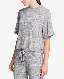 DKNY Sport Cropped Short-Sleeve Sweatshirt, Created for Macy's