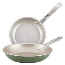Ayesha Curry Home Collection 2-Pc. Porcelain Enamel Non-Stick Skillet Set