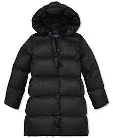 Polo Ralph Lauren Big Girls Long Hooded Down Jacket