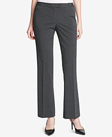 Calvin Klein Plaid Straight-Leg Modern Pants
