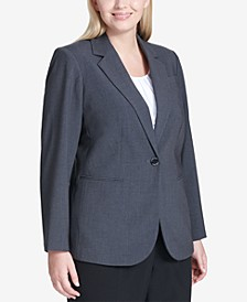 Plus Size One-Button Blazer
