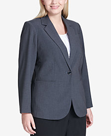 Calvin Klein Plus Size One-Button Blazer