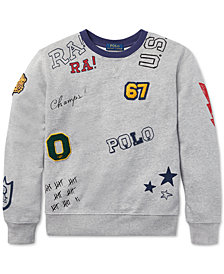 Polo Ralph Lauren Big Boys Graphic Cotton Sweatshirt