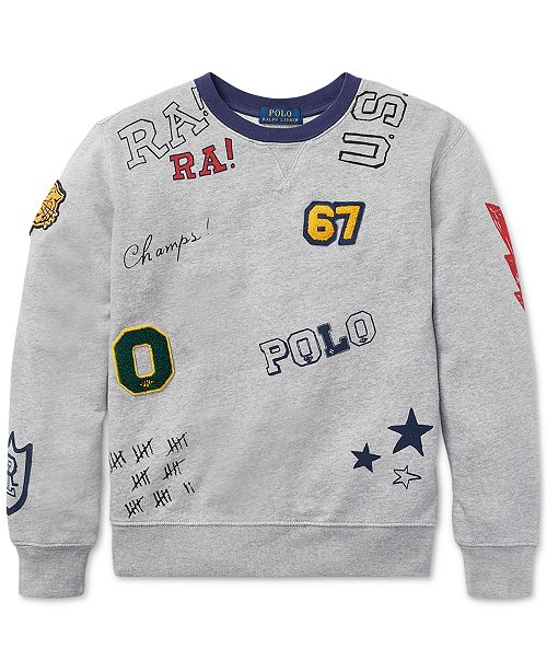 6ec536475 Polo Ralph Lauren Big Boys Graphic Cotton Sweatshirt & Reviews ...