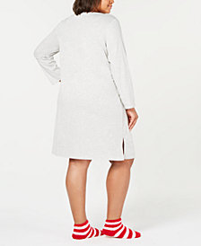 Charter Club Plus Size Sleepshirt and Sock Set, Created for Macy's