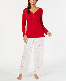 Charter Club Petite Mix It Up Pajama Set, Created for Macy's