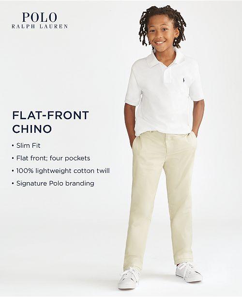 c3ffb13f509ff Polo Ralph Lauren Big Boys Slim Fit Cotton Chino Pants   Reviews ...