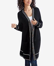 Lucky Brand Varsity-Stripe Sweater Coat