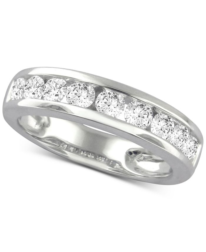 Macy's Star Signature Diamond - Star Signature Diamond Band (1-1/5 ct. t.w.) in 14k White Gold
