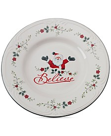 Winterberry Believe Round Platter, Created for Macy's