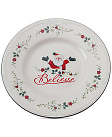 Pfaltzgraff Winterberry Believe Round Platter, Created for Macy's