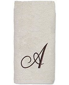 Initial Script Embroidered Fingertip Towel