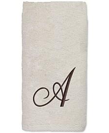Avanti Initial Script Embroidered Fingertip Towel
