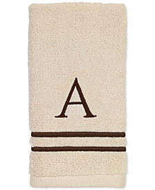 Avanti Block Monogram Embroidered Towel Collection