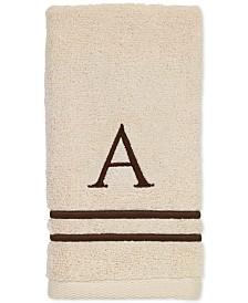 Avanti Block Monogram Embroidered Towel Collection