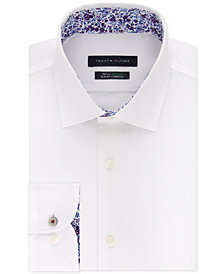 Tommy Hilfiger Men's Slim-Fit TH Flex Non-Iron Supima Stretch Solid Dress Shirt