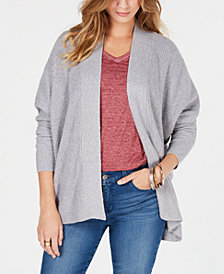 Style & Co Ribbed Open-Front Cardigan, Created for Macy's