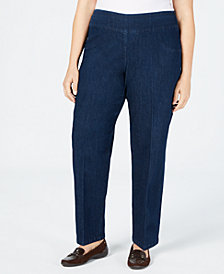 Alfred Dunner Plus Size News Flash Pull-On Denim Pants