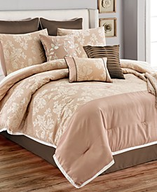 CLOSEOUT! Winslet 14-Pc. Queen Comforter Set