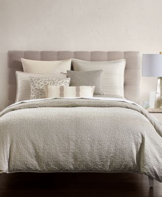 Birch Reversible Silver Full/Queen Duvet Cover, Created for Macy's