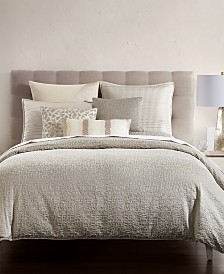 Hotel Collection Birch Reversible Silver Duvet Covers, Created for Macy's