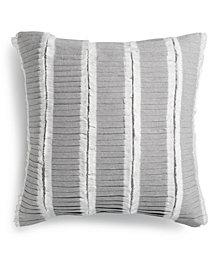 "Tommy Hilfiger Mount Rainer Cotton Ruffle 18"" x 18"" Decorative Pillow"