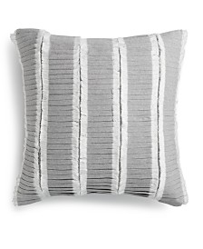 "Tommy Hilfiger Mount Rainer Cotton Ruffle 18"" x 18"" Decorative Pillow"