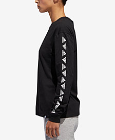 adidas Long-Sleeve Logo T-Shirt