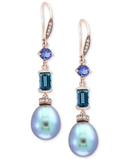 ce491cbe2 ... EFFY Collection EFFY® Blue Cultured Freshwater Pearl (12 x 10mm),  Multi- ...