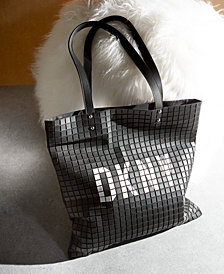 DKNY St. Marks Tile Logo Tote, Created for Macy's