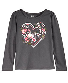Epic Threads Little Girls Long-Sleeve Floral Heart T-Shirt, Created for Macy's