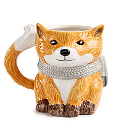 Martha Stewart Collection Figural Fox Mug, Created for Macy's