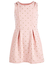 Epic Threads Big Girls Cut Out Ponté-Knit Dress, Created for Macy's