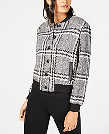 Rachel Zoe Cate Plaid Bomber Jacket
