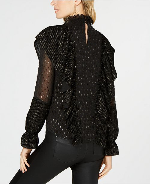 11e47c89480 Rachel Zoe Sienna Textured Mock-Neck Top   Reviews - Tops - Women ...